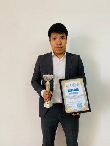 Студент Қ. Ермекбаев Батыс аймақтық дәстүрлі Cinema Cup II  турнирінің жүлдегері