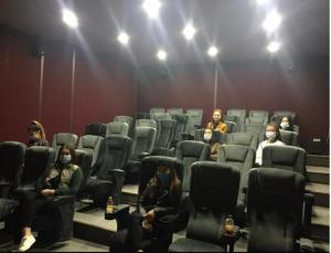 Факультеттің белсенді студенттерімен кезекті кино көру